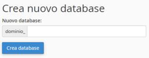 Come creare un database cPanel Osting.it