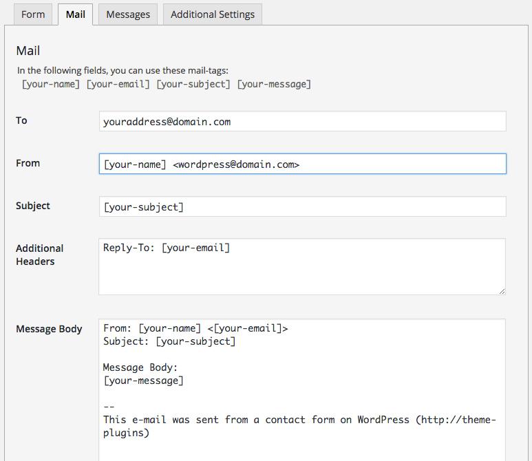 Come creare un form di contatto WordPress con ContactForm 7 Osting.it